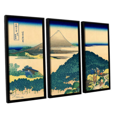 Brushstone The Coast Of Seven Leagues In Kamajura3-pc. Floater Framed Canvas Wall Art
