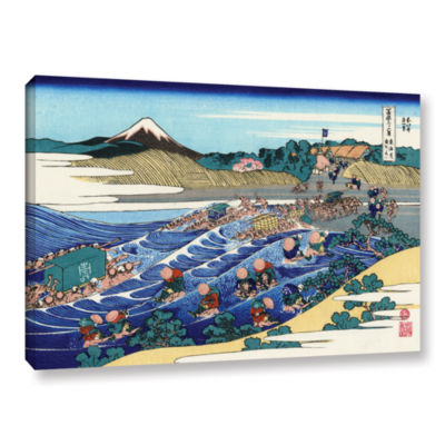 Brushstone The Fuji From Kanaya On The Tokaido Gallery Wrapped Canvas Wall Art