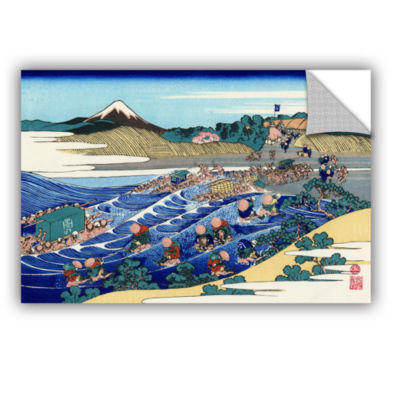 Brushstone The Fuji From Kanaya On The Tokaido Removable Wall Decal
