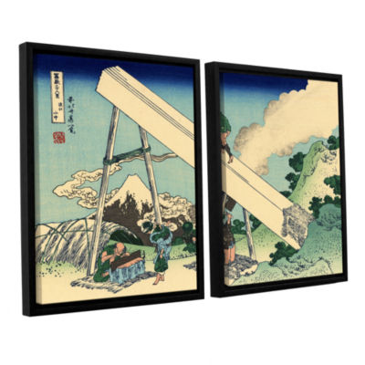 Brushstone The Fuji From The Mountains Of Totomi 2-pc. Floater Framed Canvas Wall Art