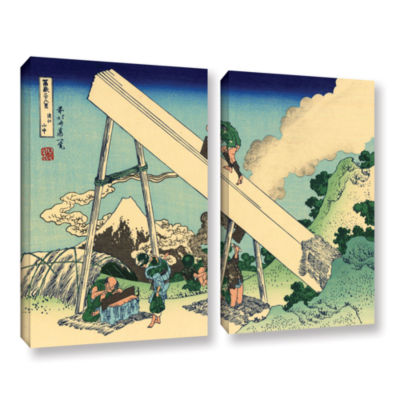 Brushstone The Fuji From The Mountains Of Totomi 2-pc. Gallery Wrapped Canvas Wall Art