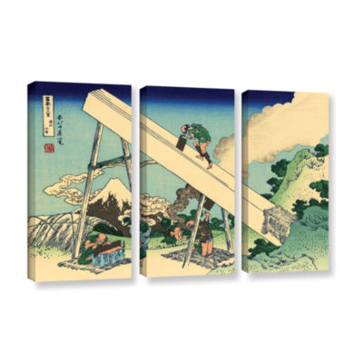 Brushstone The Fuji From The Mountains Of Totomi 3-pc. Gallery Wrapped Canvas Wall Art