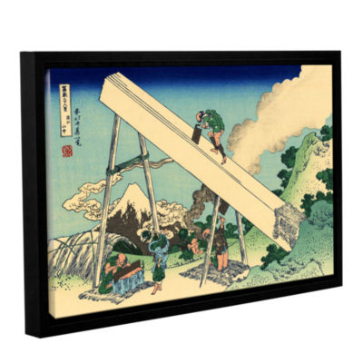 Brushstone The Fuji From The Mountains Of Totomi Gallery Wrapped Floater-Framed Canvas Wall Art