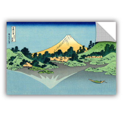 Brushstone The Fuji Reflects In Lake Kawaguchi Seen From The Misaka Pass In The Kai Province Removable Wall Decal