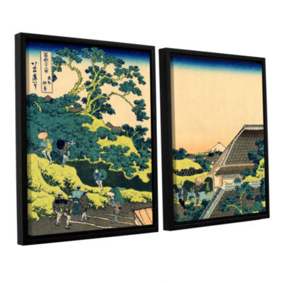 Brushstone The Fuji Seen From The Mishima Pass 2-pc. Floater Framed Canvas Wall Art