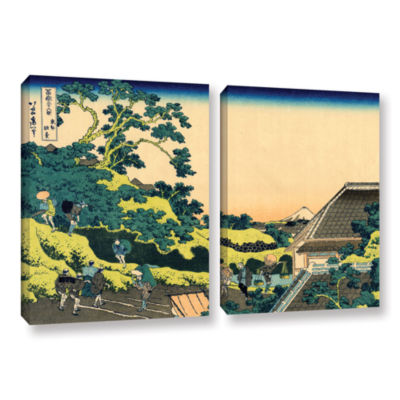Brushstone The Fuji Seen From The Mishima Pass 2-pc. Gallery Wrapped Canvas Wall Art