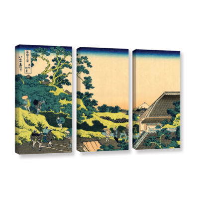 Brushstone The Fuji Seen From The Mishima Pass 3-pc. Gallery Wrapped Canvas Wall Art