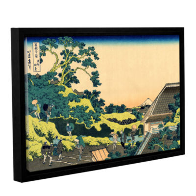 Brushstone The Fuji Seen From The Mishima Pass Gallery Wrapped Floater-Framed Canvas Wall Art