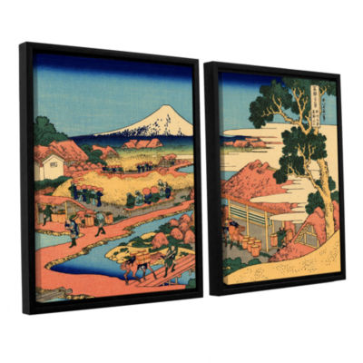 Brushstone Tea Plantation In Suruga Province 2-pc.Floater Framed Canvas Wall Art