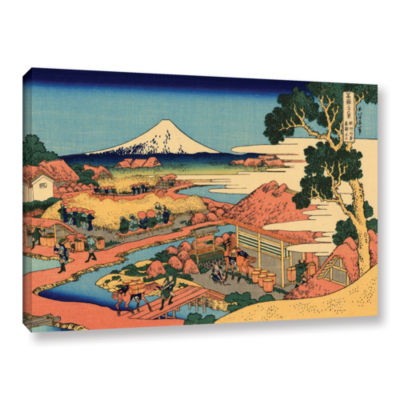 Brushstone Tea Plantation In Suruga Province Gallery Wrapped Canvas Wall Art