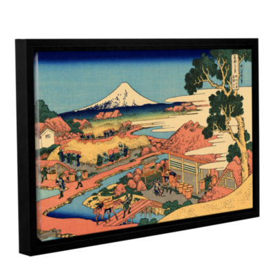 Brushstone Tea Plantation In Suruga Province Gallery Wrapped Floater-Framed Canvas Wall Art