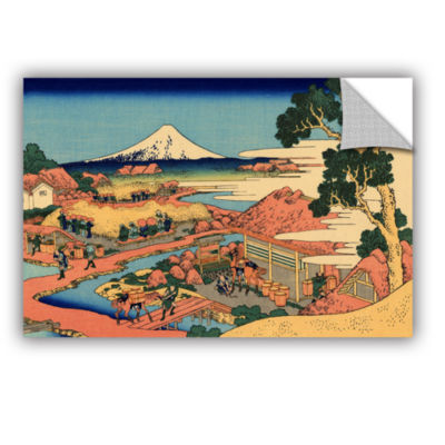 Brushstone Tea Plantation In Suruga Province Removable Wall Decal