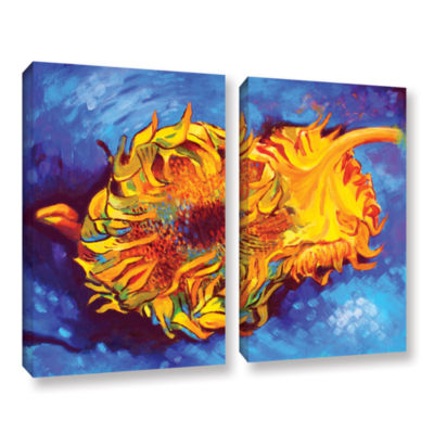 Brushstone Two Sunflowers 2-pc. Gallery Wrapped Canvas Set