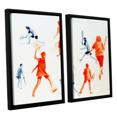 Brushstone Swuahs Players 2-pc. Floater Framed Canvas Wall Art
