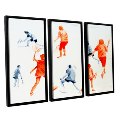 Brushstone Swuahs Players 3-pc. Floater Framed Canvas Wall Art
