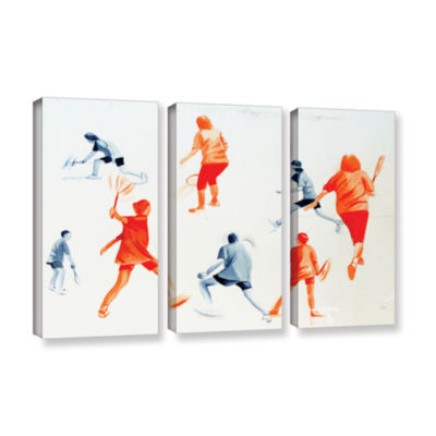 Brushstone Swuahs Players 3-pc. Gallery Wrapped Canvas Wall Art