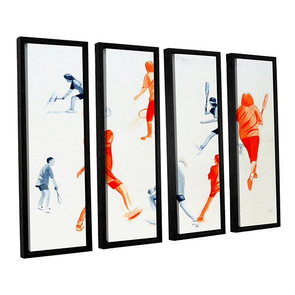 Brushstone Swuahs Players 4-pc. Floater Framed Canvas Wall Art