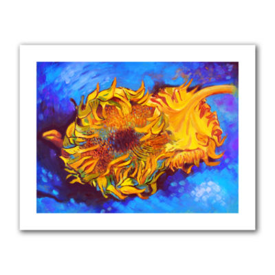 Brushstone Two Sunflowers Canvas Wall Art