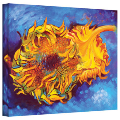 Brushstone Two Sunflowers Gallery Wrapped Canvas