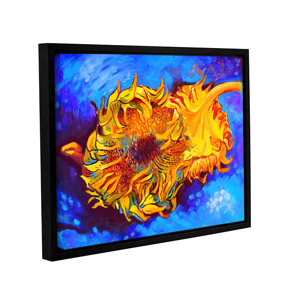 Brushstone Two Sunflowers Gallery Wrapped Floater-Framed Canvas