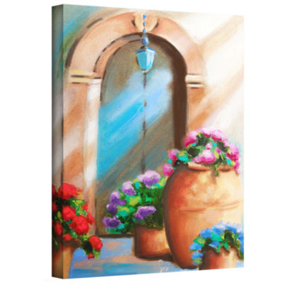 Brushstone Tuscan Stoop Gallery Wrapped Canvas