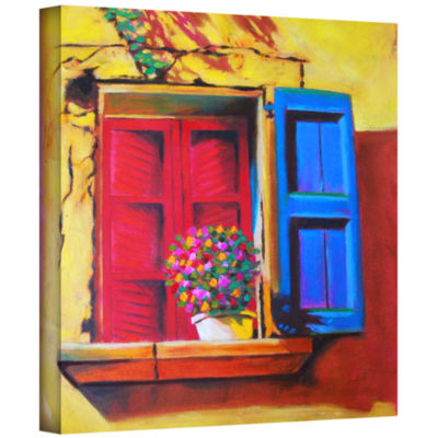 Brushstone Venentian Window Gallery Wrapped Canvas