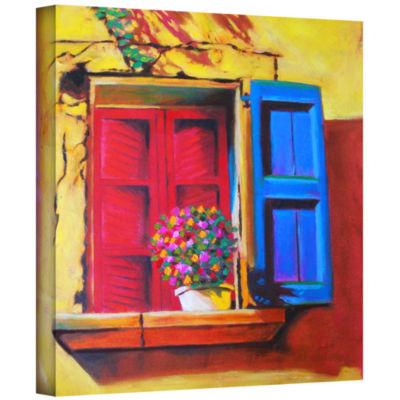 Brushstone Venentian Window Gallery Wrapped CanvasWall Art