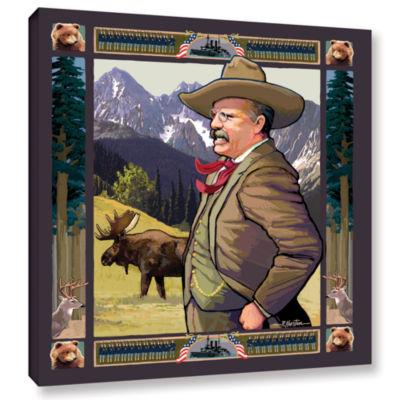 Brushstone Teddy Roosevelt Gallery Wrapped CanvasWall Art