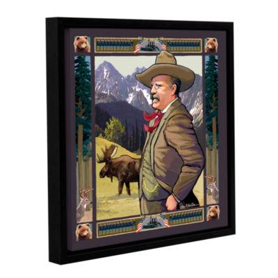 Brushstone Teddy Roosevelt Gallery Wrapped Floater-Framed Canvas Wall Art