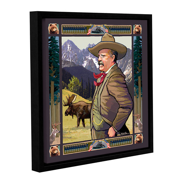Brushstone Teddy Roosevelt Gallery Wrapped Floater-Framed Canvas Wall Art