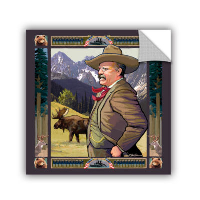Brushstone Teddy Roosevelt Removable Wall Decal