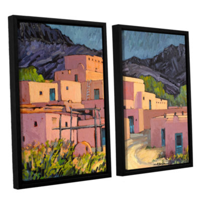 Brushstone Taos Pueblo 2-pc. Floater Framed CanvasWall Art