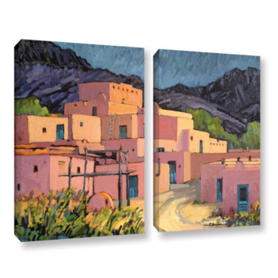 Brushstone Taos Pueblo 2-pc. Gallery Wrapped Canvas Wall Art