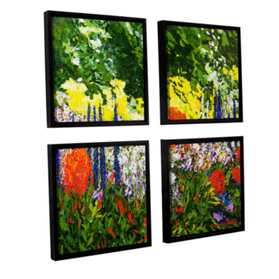 Brushstone Under The Branch 4-pc. Square Floater Framed Canvas Wall Art