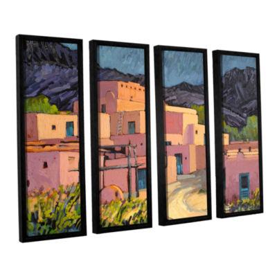 Brushstone Taos Pueblo 4-pc. Floater Framed CanvasWall Art
