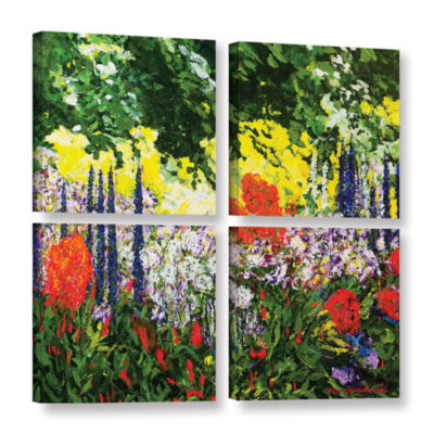 Brushstone Under The Branch 4-pc. Square Gallery Wrapped Canvas Wall Art