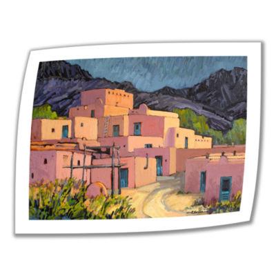 Brushstone Taos Pueblo Canvas Wall Art