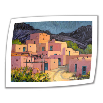 Brushstone Taos Pueblo Canvas Wall Art