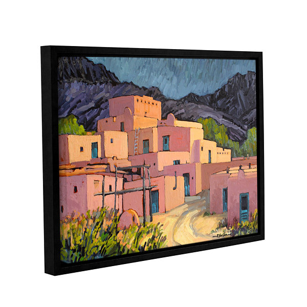 Brushstone Taos Pueblo Gallery Wrapped Floater-Framed Canvas Wall Art