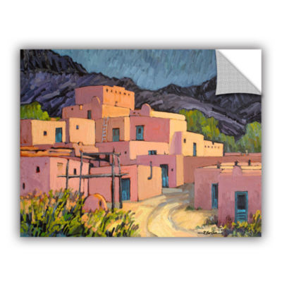 Brushstone Taos Pueblo Removable Wall Decal