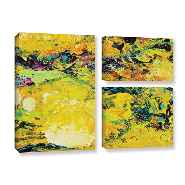 Brushstone Watermelon Patch 3-pc. Gallery WrappedCanvas Flag Set