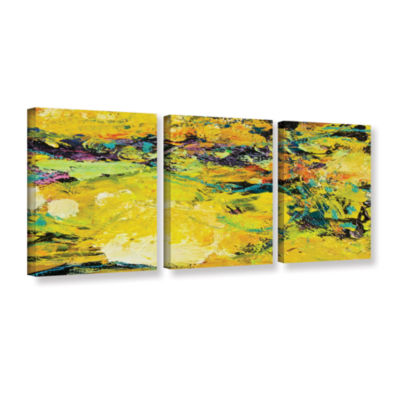 Brushstone Watermelon Patch 3-pc. Gallery WrappedCanvas Set