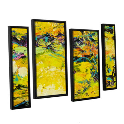 Brushstone Watermelon Patch 4-pc. Floater Framed Canvas Staggered Set