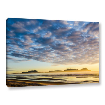 Brushstone Sunrise At Lang's Beach Gallery WrappedCanvas Wall Art