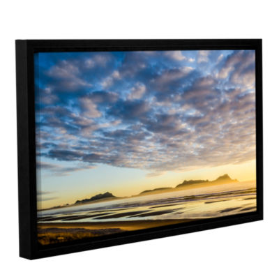 Brushstone Sunrise At Lang's Beach Gallery WrappedFloater-Framed Canvas Wall Art
