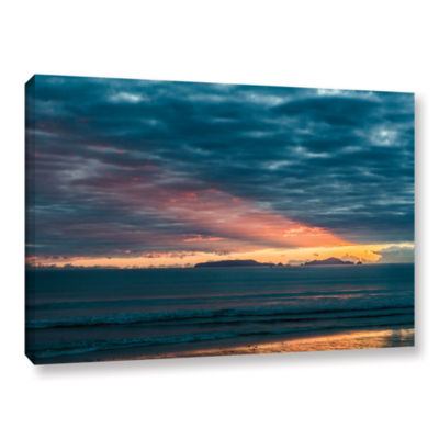 Brushstone Sunrise At Sandy Bay Gallery Wrapped Canvas Wall Art