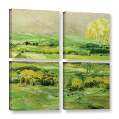 Brushstone Upper Hayford 4-pc. Gallery Wrapped Canvas Square Set