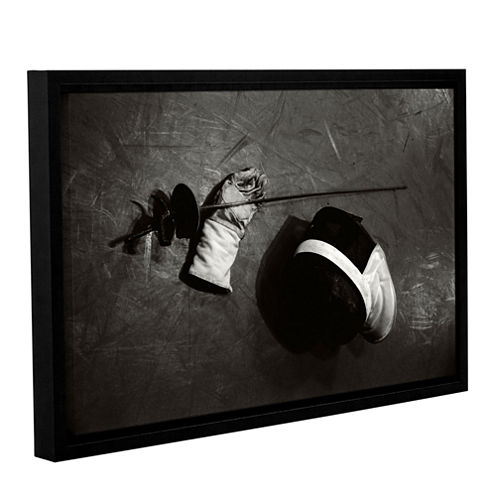 Brushstone Sword Fighter Gallery Wrapped Floater-Framed Canvas Wall Art