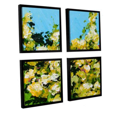 Brushstone Versaille Garden 4-pc. Floater Framed Canvas Sqare Set