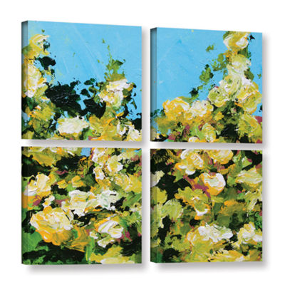 Brushstone Versaille Garden 4-pc. Square Gallery Wrapped Canvas Wall Art